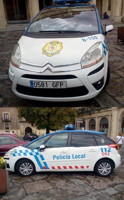 かわいらしいパトカーですね。これ、地元警察のパトカーだそうです。州のパトカーは濃いブルーだそうです。。by kazuo