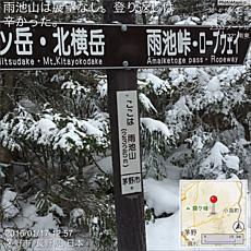 雨池山は展望なし。登り返しは辛かった。by ゲストさん 640x640(252KB)