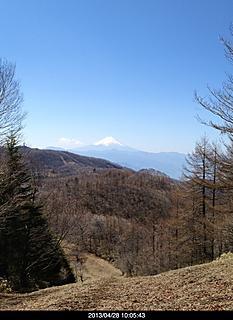 倉掛山からの展望。富士山が見えます。by  kazuo 466x640(131KB)