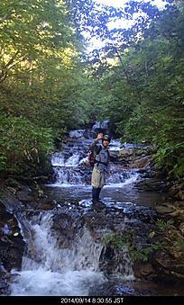 滝ありナメありの気持ちのいい沢でした。by ゲストさん 384x640(146KB)