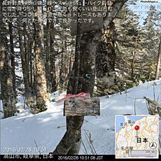 長野野麦峠から鎌ケ峰へスノーシューハイク前日に雪が降り少し積もり、天気も良くいい登山日和でした。ココは登山道が無く、トレースもありませんが、何とか登頂できて良かったです。by ゲストさん 640x640(269KB)