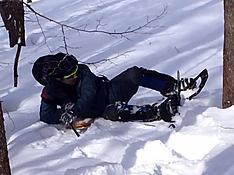 斜面お雪、表面固かったのに踏み抜いてやっと這い上がるby ゲストさん 807x605(109KB)