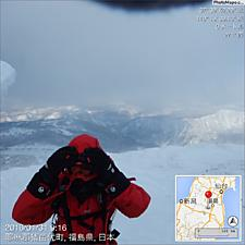 箕輪山の予定が強風で手前の鬼面山で撤退です。by ゲストさん 1024x1024(166KB)