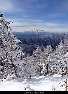 藪だらけの急斜面、中途半端な雪、雪に足を取られ登りにくいやっとの事で展望地までby ゲストさん 466x640(144KB)