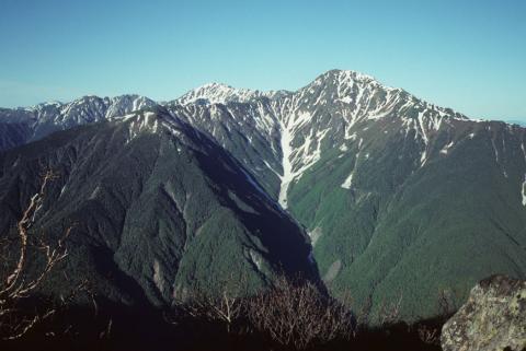 梅雨晴れの白根三山(南ア)