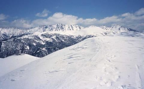 水晶岳と雲ノ平