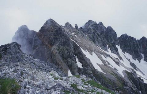 剣岳北方稜線(長次郎ノ頭)