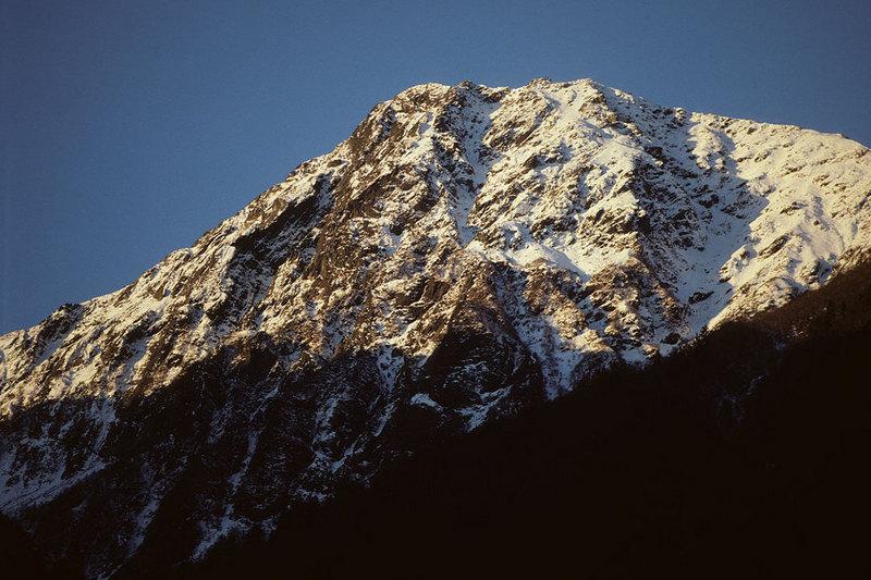 初雪の北岳バットレス