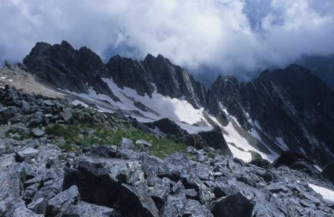 剣岳北方稜線(山頂にて)