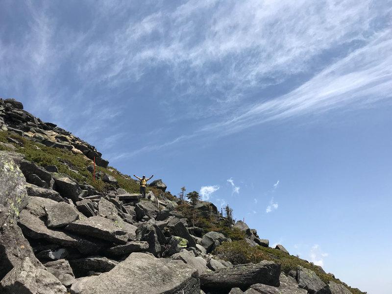 蓼科山にて