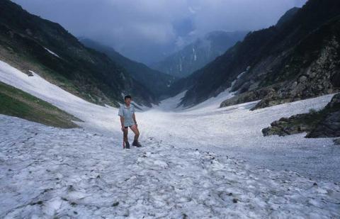 剣岳北方稜線(小窓雪渓)