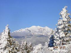 雪景色の御嶽山