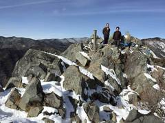 雪の乾徳山