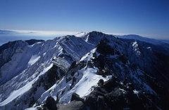 冬の空木岳稜線